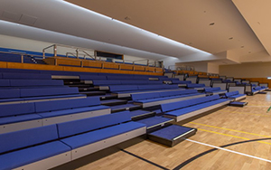 St Stephen's Catholic College Mareeba Type: Springfield retractable bench seating installed 2020